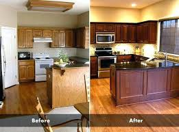 kitchen cabinets refinished delightful good cabinet refinishing nice idea marvelous before and after best ideas refurbish