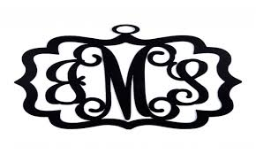 Black Iron Wall Decor Metal Monogram Wall Decor Monogram Scrolled Metal Wall Decor