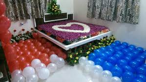 first night room decoration for couple
