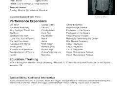 Beginner Acting Resume Enchanting Acting Resume Format 48 Beginner Cover Letter Actor Actors