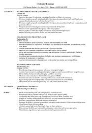 Print Resume Print Manager Resume Samples Velvet Jobs 9