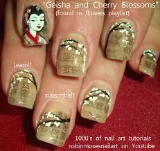 robin moses nails, cherry nail, geisha nail, cherry blossom nail ...