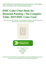 Pdf Dmc Color Chart Book For Diamond Painting The Complete