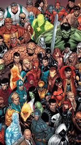 Marvel Characters Cartoon Wallpaper