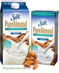 silk unsweetened pure almond milk