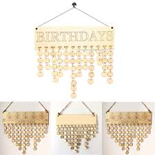 diy wooden birthday calendar board family friends sign dates hanging decor gift 1 of 12free