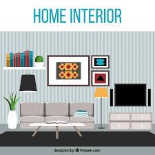 modern living room free vector