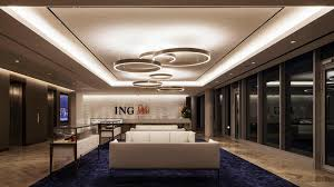from subtly illuminating pieces of art to washing light on a flat white ing bank s new office space made use of every lighting design technique we know