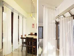image of luxury ceiling mount curtain track ideas