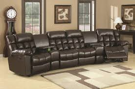 Unique Sectional Reclining Sofas Photos Ideas Top Theater Sofa With