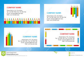 Crayons Business Card Template Stock Vector Illustration