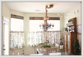 ... Delightful Kitchen Decoration With Various Kitchen Curtain Pattern :  Cute Kitchen Dining Room Decoration Using Black ...