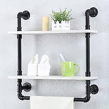 industrial bathroom shelves wall