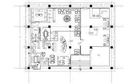 Bank Building Plan In Autocad File