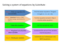 5 solving a system