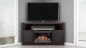 strikingly ideas electric fireplace corner tv stand tv dark wenge finish furnitech amish black 60