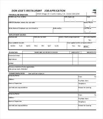 Job Applications Sample Generic Job Application Doc Printable Sample Applications
