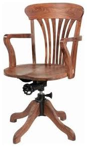 wooden swivel office chair traditional desks americancountryhomestorecom antique deco wooden chair swivel