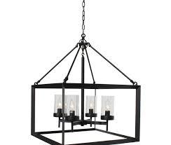 capri 4 light kitchen foyer pendant chandelier black finish