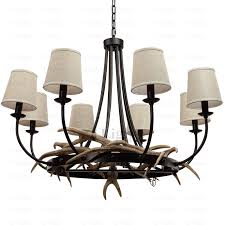 8 light antler chandelier loading zoom