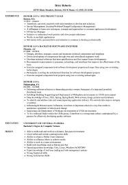 Senior Java Resume Samples Velvet Jobs