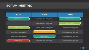 Scrum Meeting Template Scrum Process Keynote Presentation Template