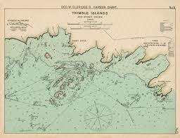 Thimble Islands And Stony Creek Ct Colored Nautical Chart