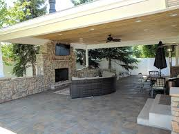 Backyard Covered Patio ogden covered patio with fireplace and tv makes backyard 8789 by guidejewelry.us