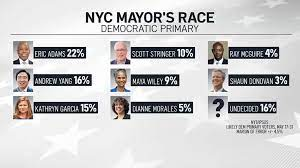 The survey, which was conducted in conjunction with pollster mclaughlin & associates from june 10 to 15, found that 21.3 percent of respondents ranked the former nypd captain and current brooklyn. Top Candidates Swap Poll Positions In Final Stretch Of Nyc Mayoral Race Nbc New York