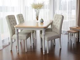 extending dining table 4 on back chairs