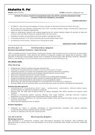 Cover Letter Resume Sample For Business Analyst Sample Resume For