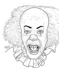 Small Picture Scary Clown Coloring Page Colowing Pinterest Scary clowns