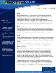 Company Fact Sheet Sample Company Fact Sheet Template Free Free Fact Sheet Template Microsoft