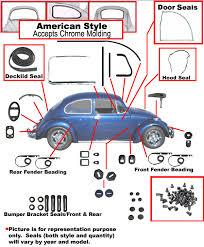 113 comp 1967 vw complete car rubber kit american style beetle vw complete car rubber kit american style beetle sedan 1967