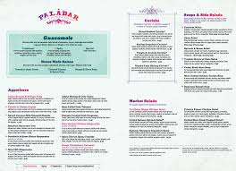 Soup Kitchen Menu Menu For Paladar Latin Kitchen Rum Bar 801 Silks Run