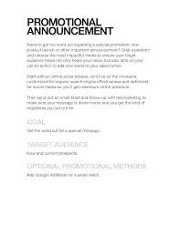 Sample Of Promotion Letter Free Event Proposal Template Download Promotion Template Word