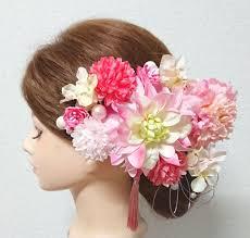 メルカリ 髪飾り 卒業式 結婚式 花嫁髪飾り 成人式髪飾り ダリア 花