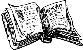 picture black and white big image png clip black and white black and white open book
