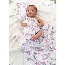 2-Pack Benita Bird Natchie Muslinfiltar - Aden + Anais - Babyshop