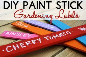 garden labels. DIY Paint Stick Gardening Labels Garden