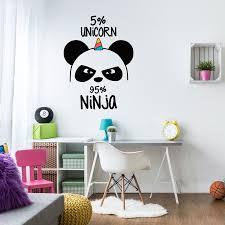 panda ninja wall sticker