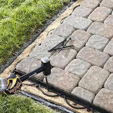 installing paving stones