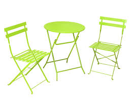 com cosco 3 piece folding bistro style patio table and chairs set bright green kitchen dining