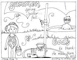 Line Drawings Summer Coloring Pages For Kids Printa Fresh On