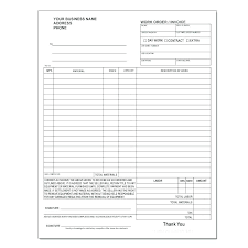 Extra Work Order Template Work Order Form Template