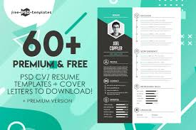 Professional Cv Free Download 60 Premium Free Psd Cv Resume Templates Cover Letters