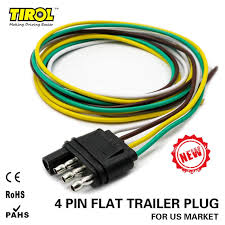 tirol 4 way flat trailer wire harness extension connector plug with plug and play trailer wiring harness tirol 4 way flat trailer wire harness extension connector plug with 36 inch cable length