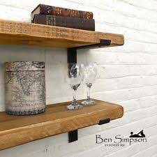 metal and wood furniture. Rustic Shelf Chunky Industrial Handmade Shelves Metal Solid Wood 22cm Depth LB22 And Furniture