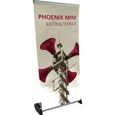 Artistic Displays Banner Stands New Phoenix Mini Tabletop Retractable Banner Stand Economy 32ft Height