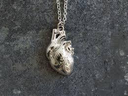 anatomically correct heart pendant